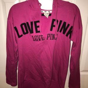 Victoria's Secret/Pink Long Sleeve V Neck Hoodie